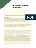 Venituri Obtinute Din Arenda Ce Obligatii Declarative Si de Plata Ave1