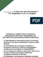 Istoricul Constituirii Studiuli Izvoaelor