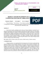 DESIGN AND DEVELOPMENT OF A MULTICONFIGURATION BEAM VIBRATION TEST SETUP