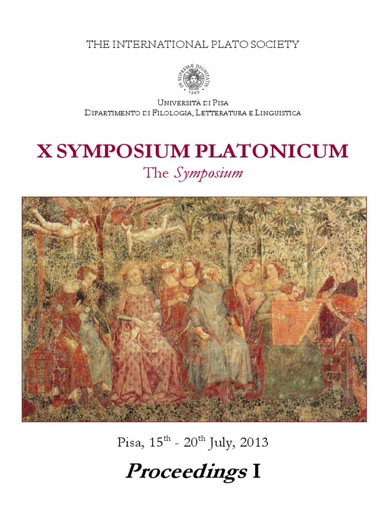 x Symposium Platonicum Proceedings 1 | Symposium (Plato) | Socrates