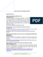 Boletín de Noticias KLR 18FEB2016