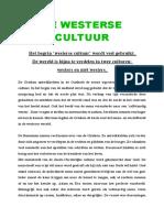 De Westerse Cultuur