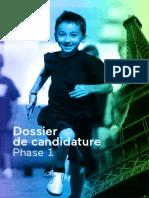 Paris 2024 - Dossier de Candidature Phase 1
