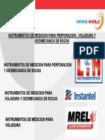Instrumentos de Medicion Para Perforacion Voladura y Geomecanica de Rocas