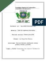 Taller de legislación informática unidad 1