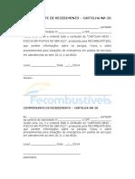 Fecombustivel - Recibo Cartilha Nr20