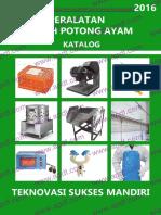 Katalog Peralatan Rumah Potong Ayam