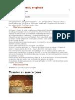 Prajitura Tiramisu Originala