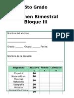 5to Grado - Bloque 3 (2014-2015) R