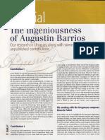 The Ingeniousness of Agustìn Barrios