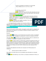 English Clauses - Clausulas. Resumen