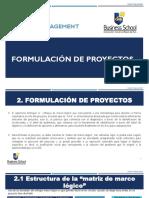 1. Formulación de proyectos