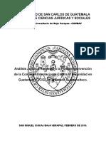 Análisis juridico de la posible intervencion de la cicig en Guatemala