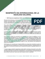 Manifiesto Dia Igualdad Salarial