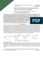 Eco-friendly Inhibition by Weed (Bidens biternata) Extract towards Acid Corrosion of AA6063