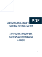 Safe Pilot Transfers at Sea by Pilot Ladders 22nd Nov 2013