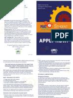 mat2 student brochure