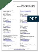 Liste Des Transitaires MALI 0612