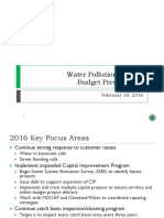CLE Water Pollution Control Budget Presentation to Cleveland City Council