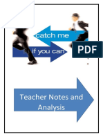 catch me if you can teacher notes and analysis