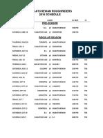Saskatchewan Roughriders Schedule