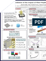 Prediction of the Impact of Fiber Polydispersity on Filter Efficiency