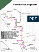 I-75 project construction segments