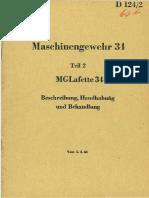 Lafette MG34 Mount Manual