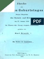 Karl BRANDI, Das Werden Der Renaissance