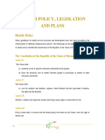Health Policy, Legislation and Plans12