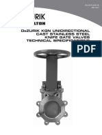 Dezurik Cast Stainless Steel Knife Gate Valve Kgn Technical 29-00-1b