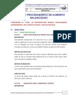 Modelos y Partidas Ejemplo de Especificaciones Tencias