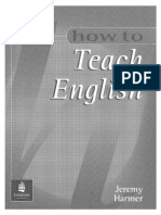 How to Teach English-jeremy Harmer