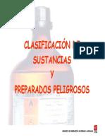 Clasificacion de Sustancias y Preparados Quimicos
