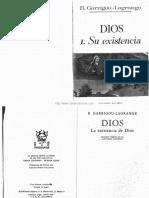 Dios Tomo I Su Existencia Solucion Tomista de Las Antinomias Agnosticas Do Padre Garrigou Lagrange