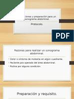 indicaciones y preparacion para un sonograma abdominal