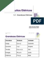 Circuitos Elétricos - Grandezas Elétricas