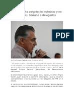 2016-02-16 Mi Carrera Ha Surgido Del Esfuerzo y No Del Privilegio- Serrano a Delegados Priistas