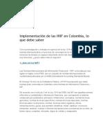Implementación de Las NIIF en Colombia