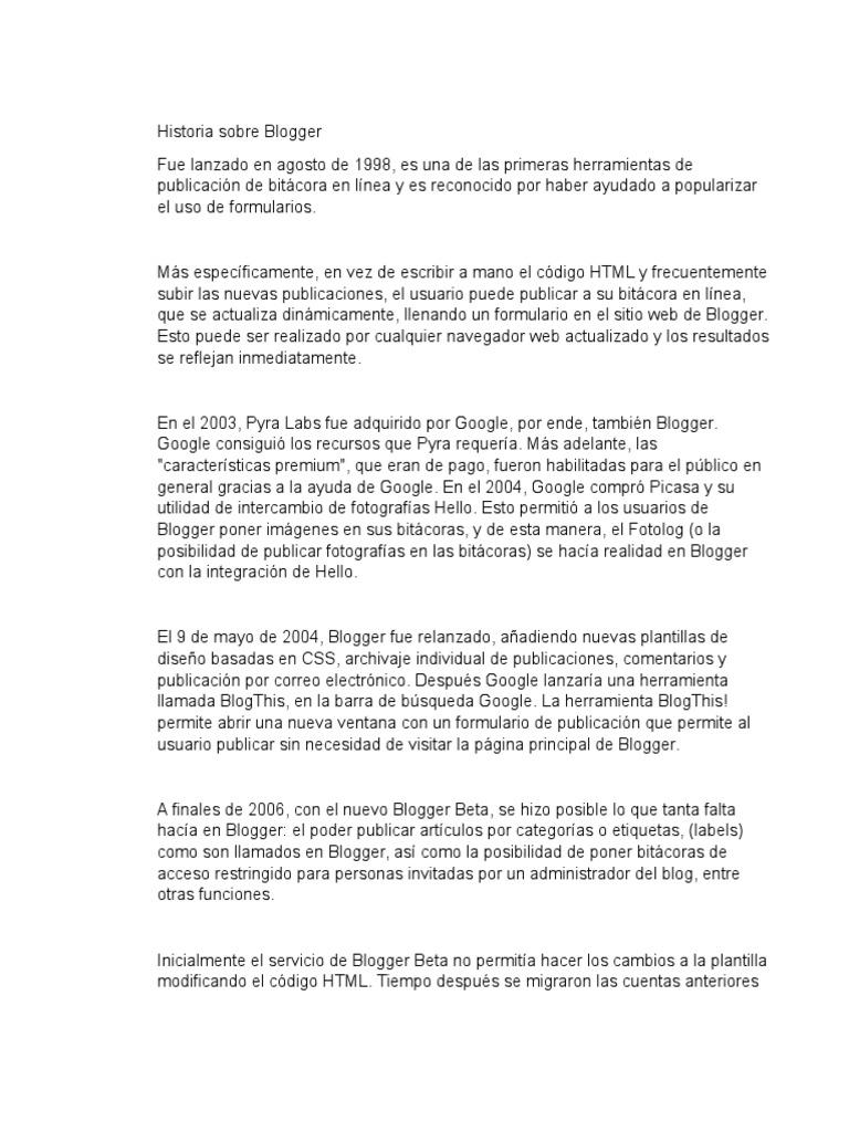Historia Sobre Blogger Julian