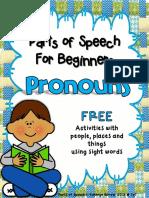 Parts of Speech Grammar for Beginners Pronouns