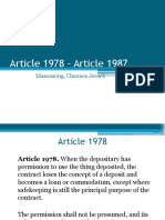 Article 1978 – Article 1995