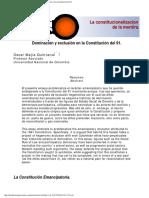 Mejia Quintana - Dominacion y Exclusion