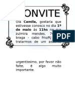 Modelo Convite