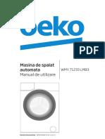 Masina de Spalat Rufe Beko WMY71233LMB3 (Manual de Utilizare)