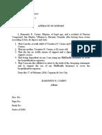 Sample Affidavit of Support