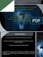Ley Del Servicio Público de Energía Eléctrica y Su Reglamento