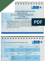 Recetario Tratamiento de Medicamentos Para Prevención de ITS, VIH y Embarazo No Deseado en Casos de Vs