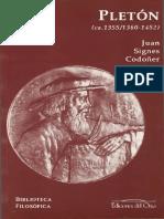 Signes Codoñer Juan - Jorge Gemisto Pleton (1355 - 1452)