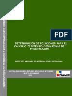 ESTUDIO DE LLUVIAS INTENSAS DEL ECUADOR